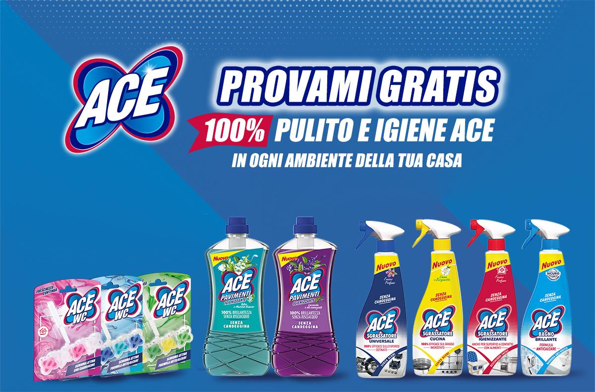 Provami Gratis 100% pulito e igiene ACE