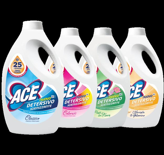 Ace detersivi igienizzanti liquidi ace - Muffa bagno candeggina ...